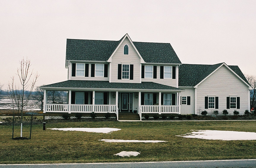 Large Porch on Custom Home- Builders of Interior and Exterior Remodeling- Frederick and Montgomery County MD