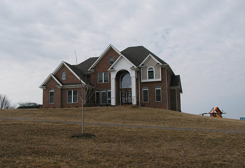 Brick Exterior of Custom Home- Remodelers Servicing Frederick County MD